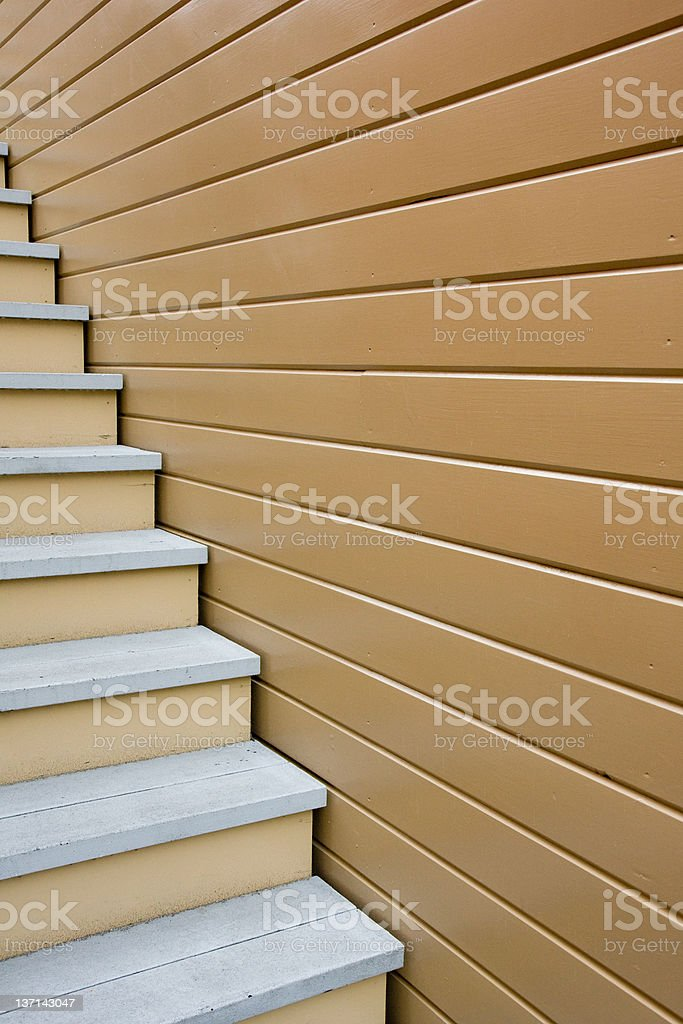 Abstract Staircase and Siding stock photo