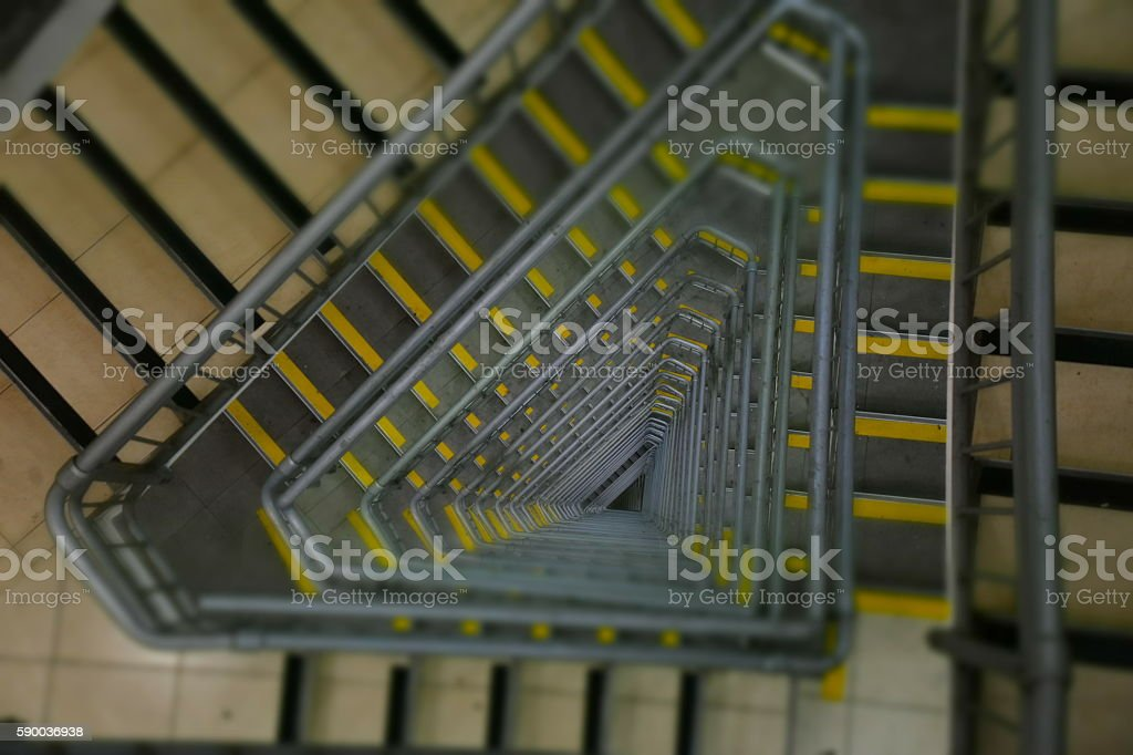 Abstract staircase stock photo
