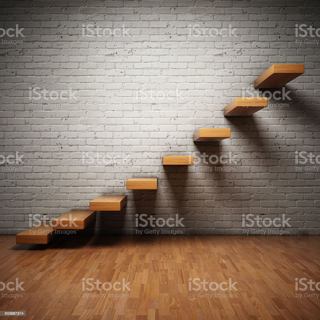 Abstract stairs stock photo