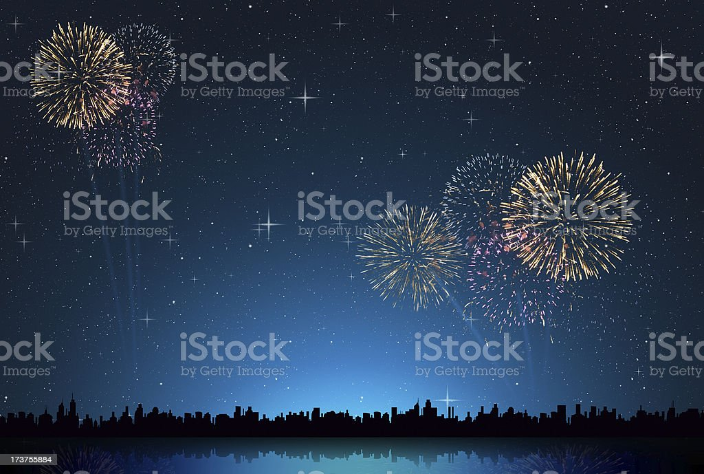 abstract starry night stock photo