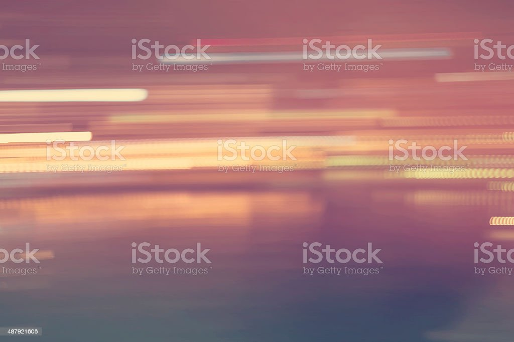 Abstract streaked city lights background stock photo