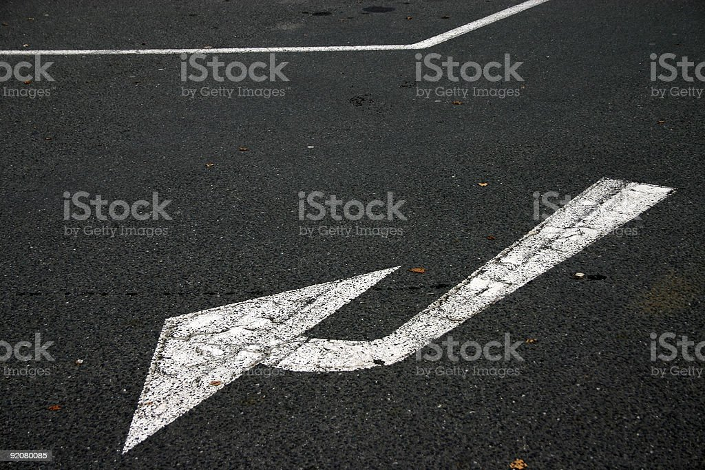 abstract street sign: arrow royalty-free stock photo