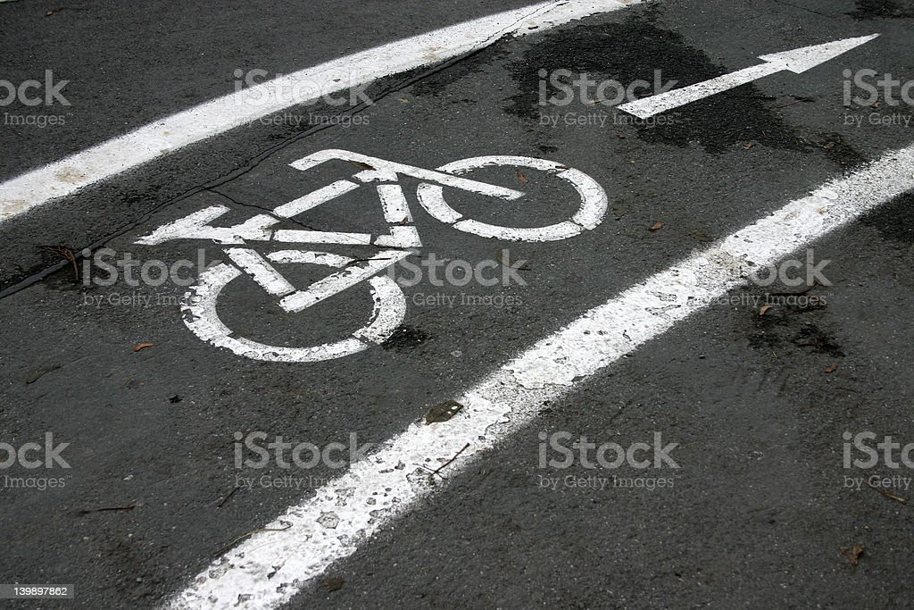 abstract street sign: cycle royalty-free stock photo