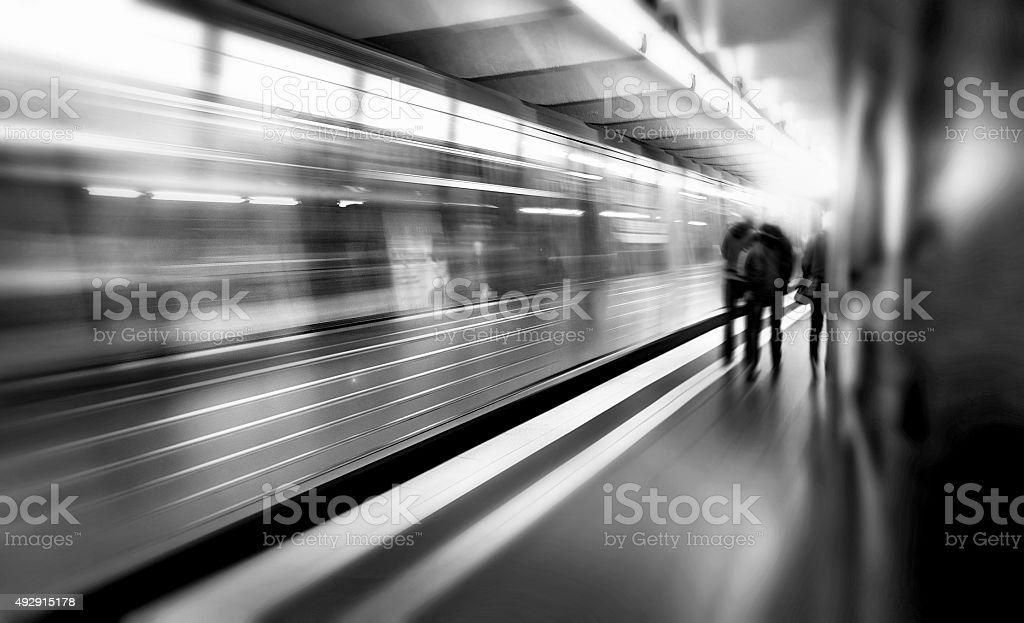 Abstract subway stock photo