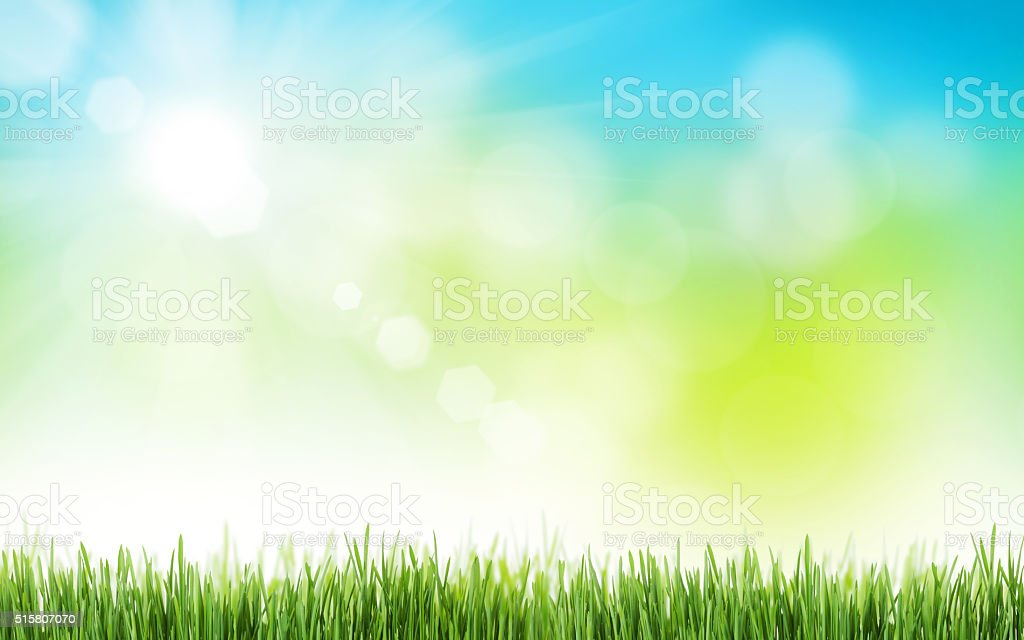 Abstract sunny spring background stock photo