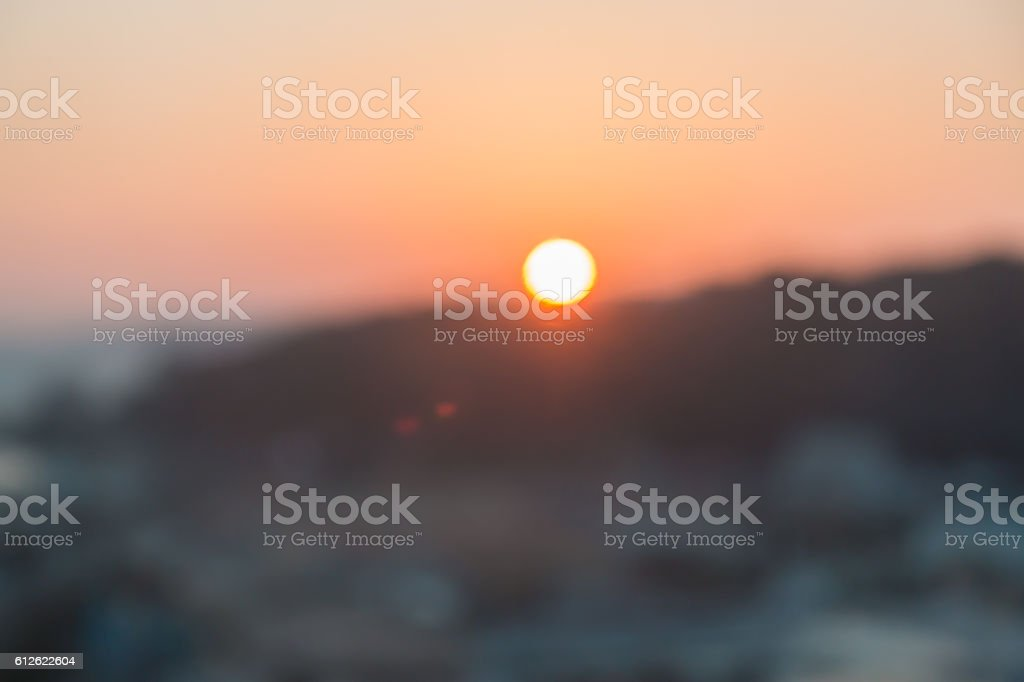 abstract sunset blur use for background. stock photo