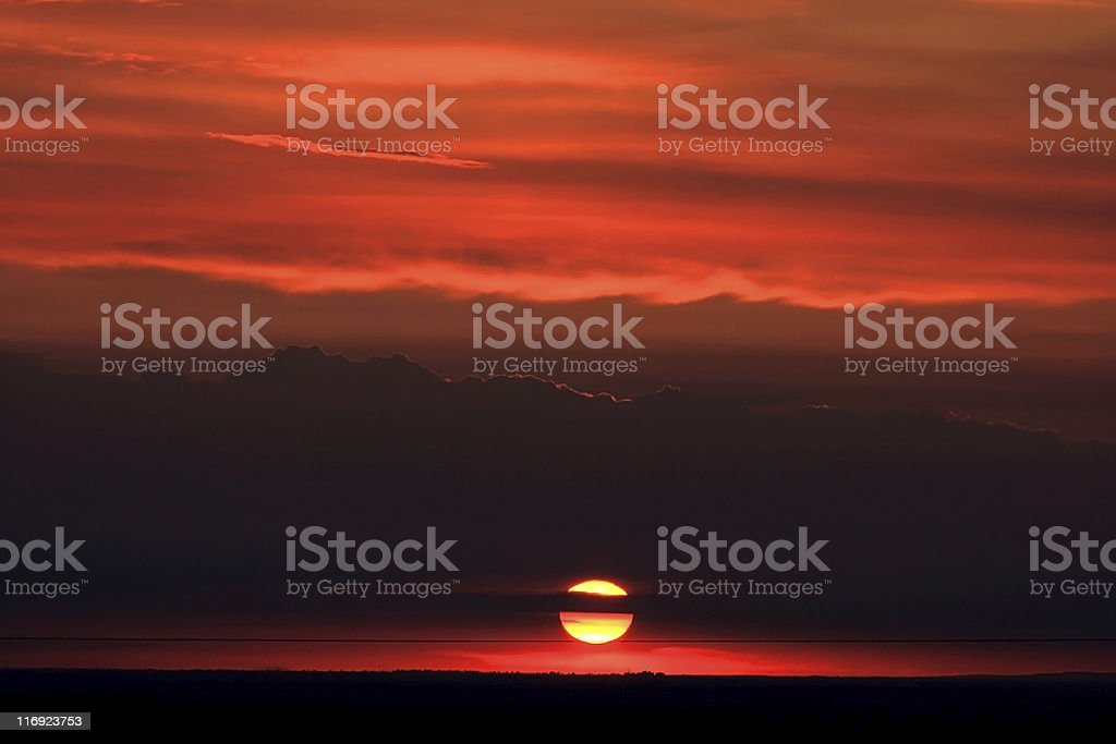 Abstract Sunset royalty-free stock photo