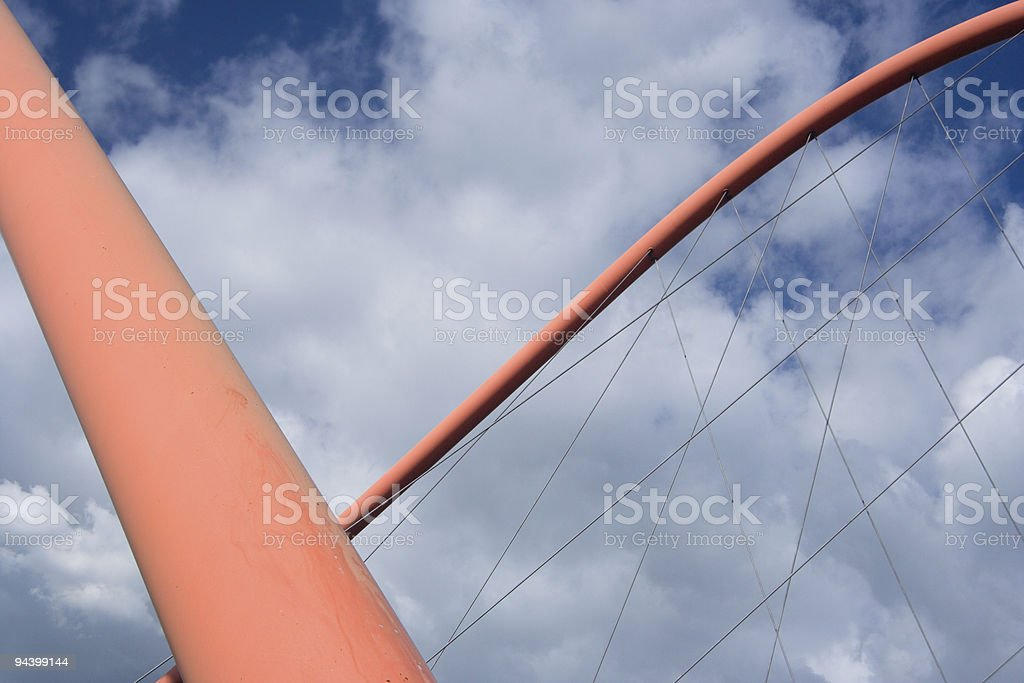 Abstract Suspension Bridge Arches royalty-free stock photo