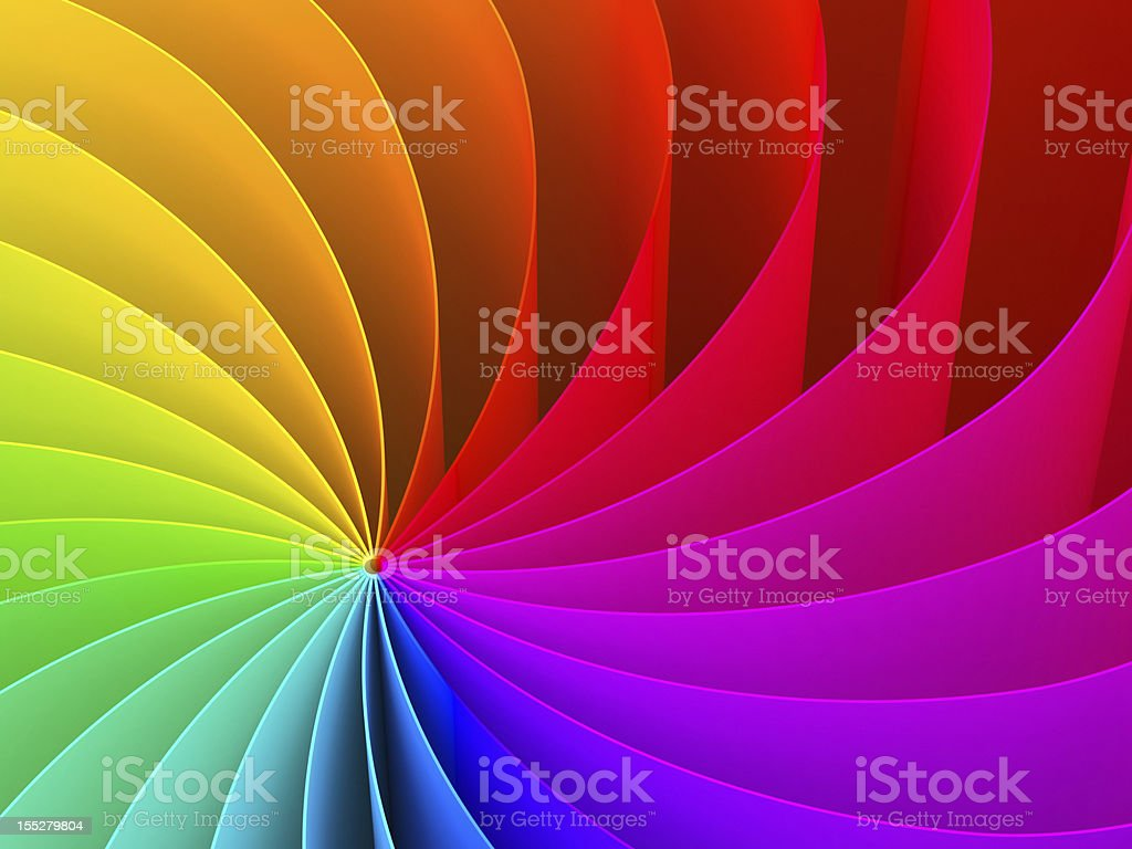 Abstract swirl pattern of rainbow color spectrum stock photo