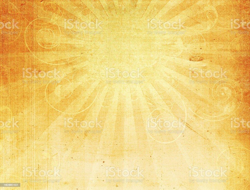 Abstract Swirly Sun Grunge Background stock photo