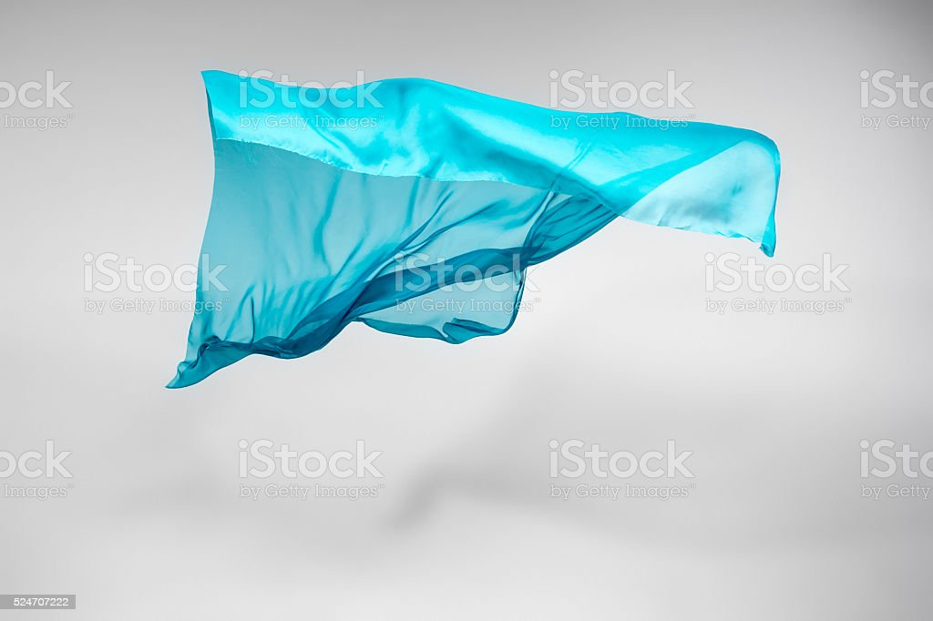 abstract teal fabric in motion stock photo