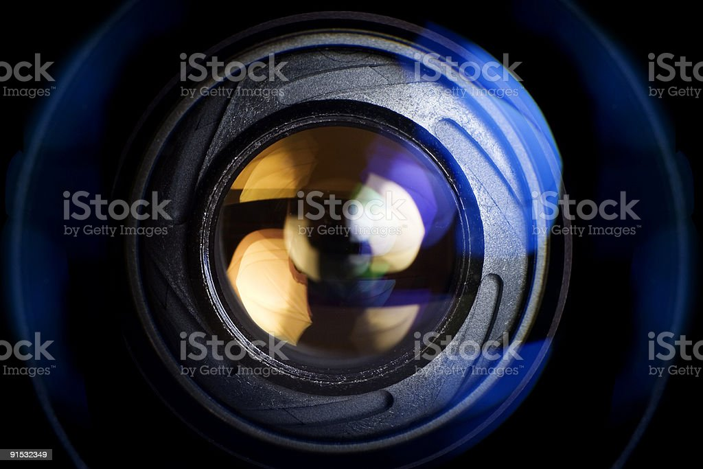 Abstract techno background photography of a camera lens. royalty-free stock photo