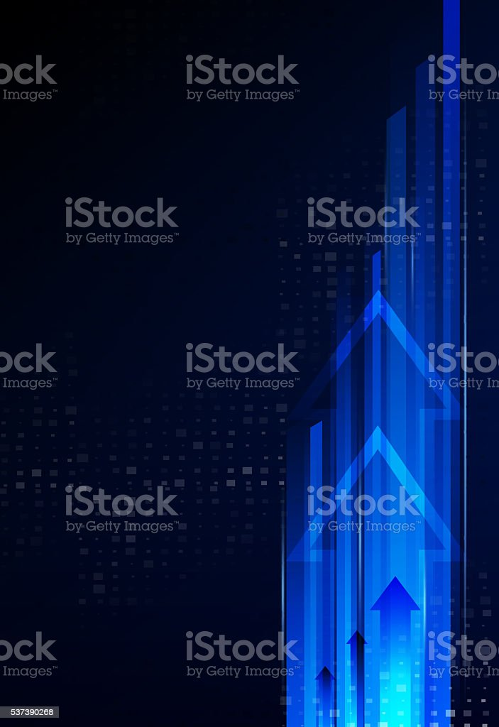 Abstract technological background is of the arrows and stripes.V stock photo