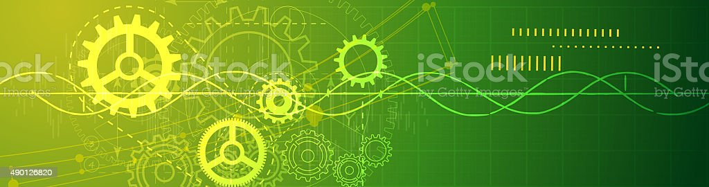 Abstract Technology Banner stock photo