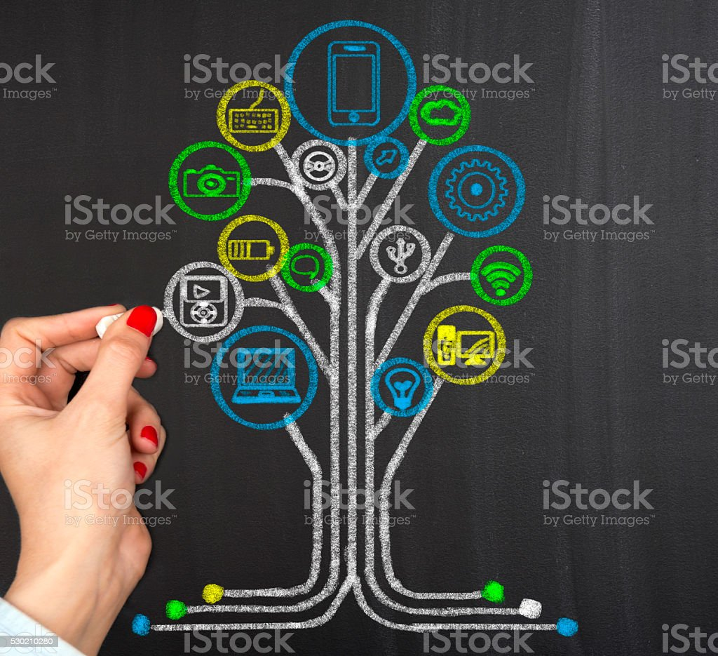 Abstract technology concept stock photo