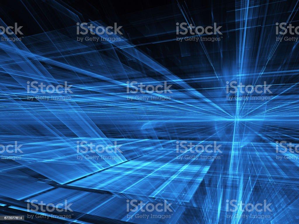 Abstract technology illustration, 3D illustration stock photo