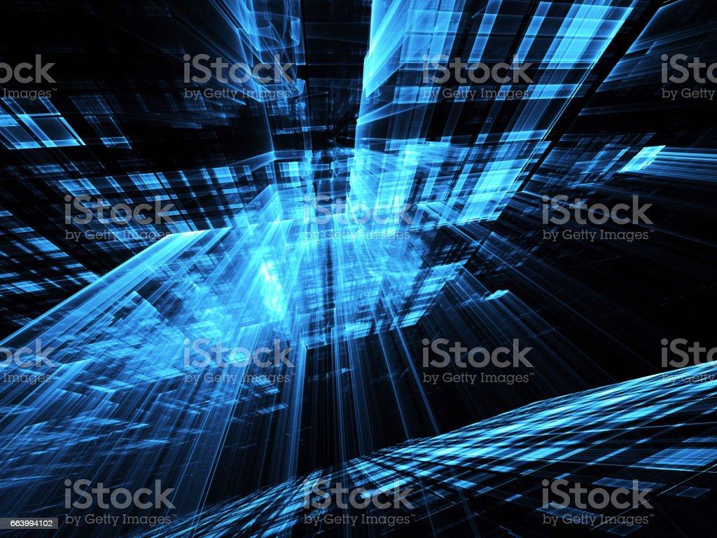 Abstract technology illustration stock photo
