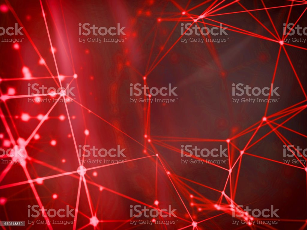 Abstract technology network mesh and destroy sphere cyber geometry orb and polygonal lines and dots. Futuristic Technology, digitally generated image, 3d rendering stock photo