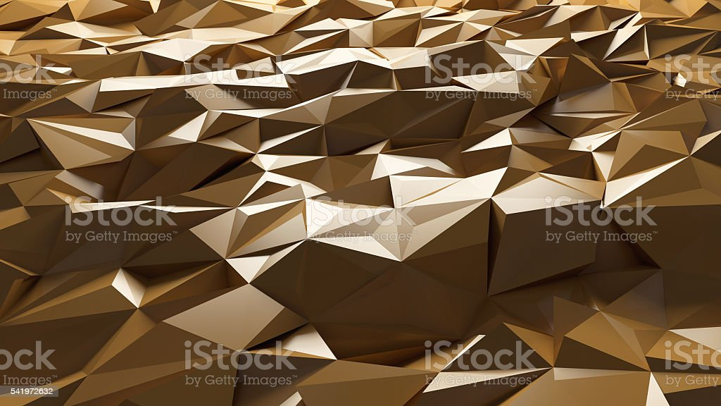 Abstract template background with gold triangle shapes stock photo