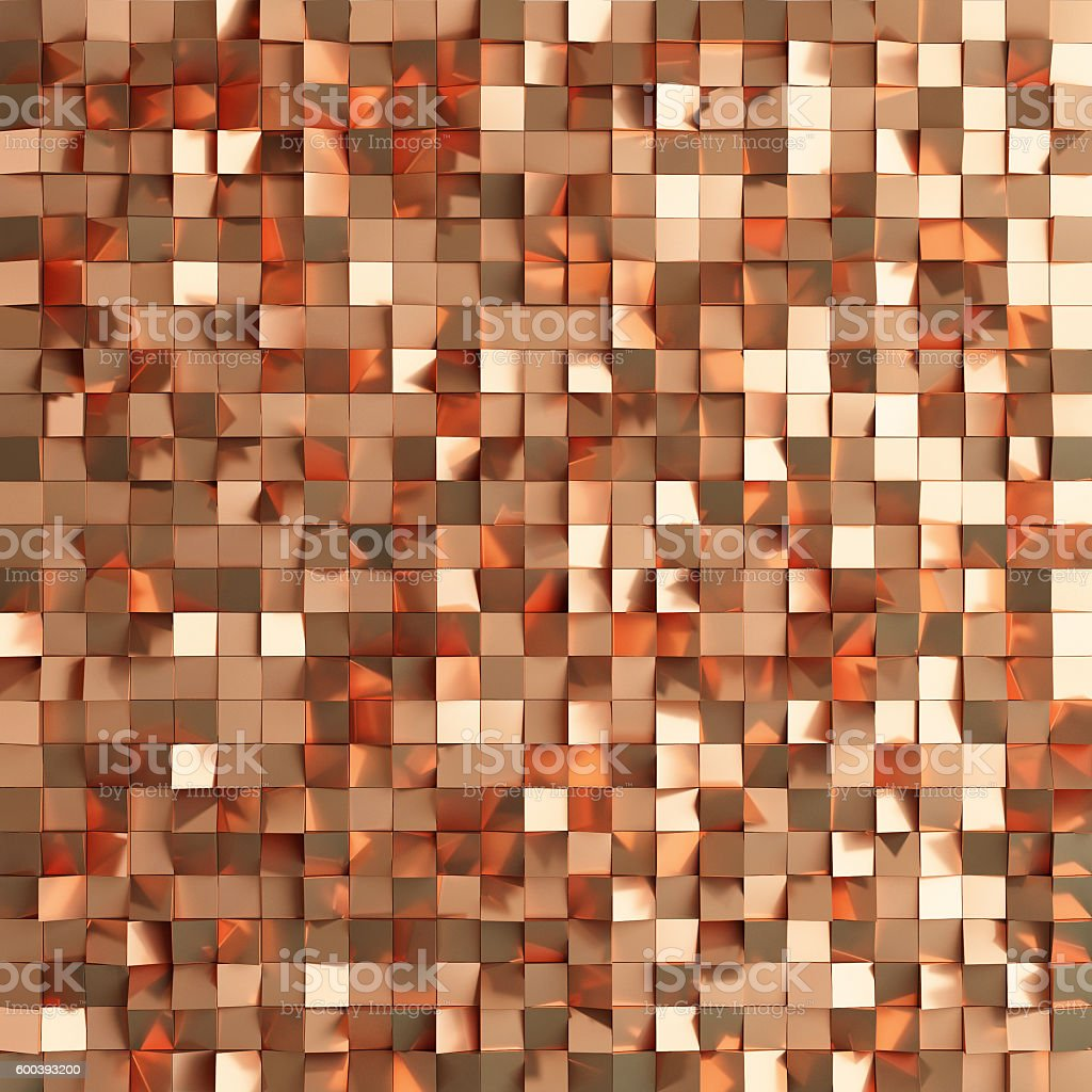 Abstract texture from golden cubes stock photo