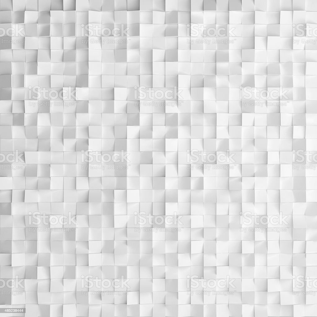 Abstract texture from white cubes vector art illustration