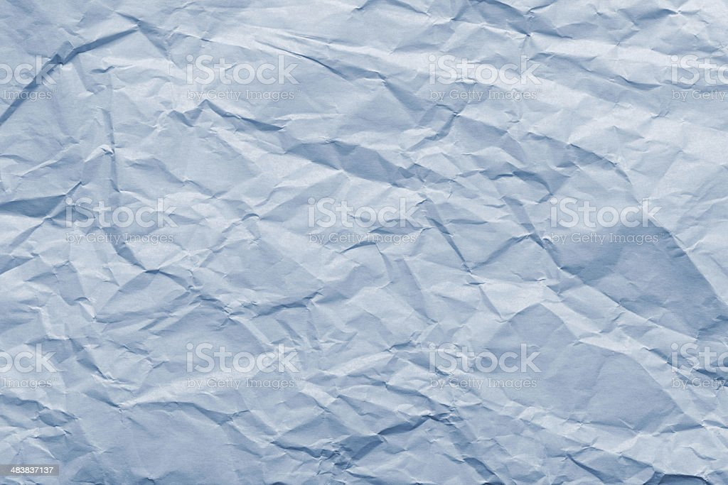Abstract texture of blue crushed paper royalty-free stock photo