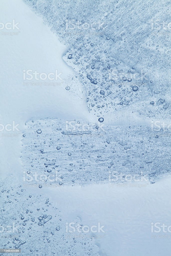 Abstract Texture of Ice Floating in Water royalty-free stock photo