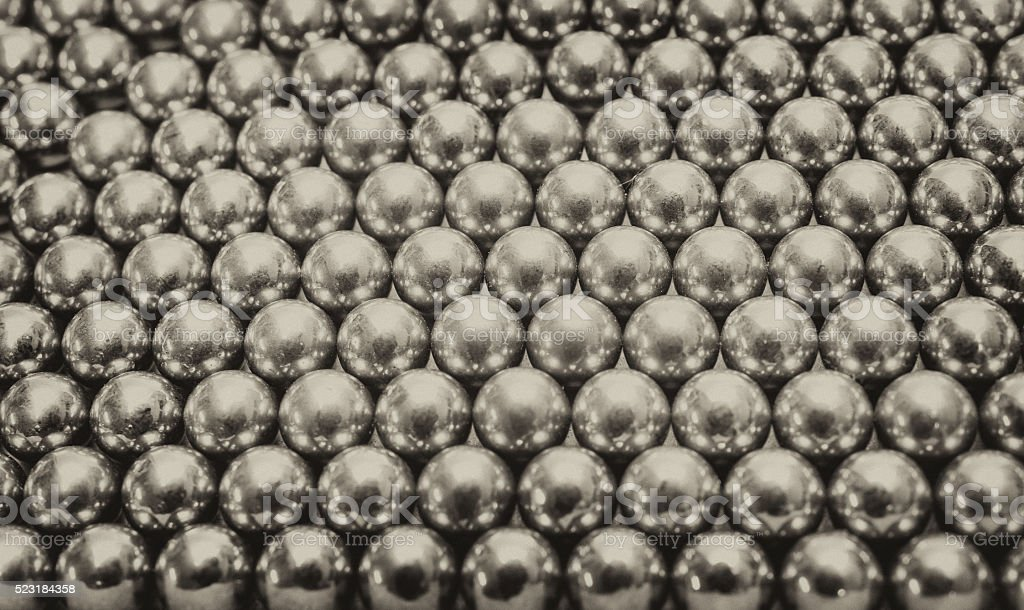 Abstract texture of metall balls stock photo