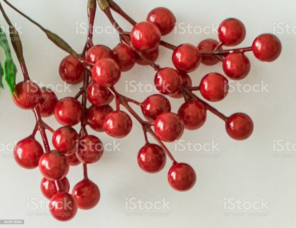 Abstract texture with artificial berries stock photo