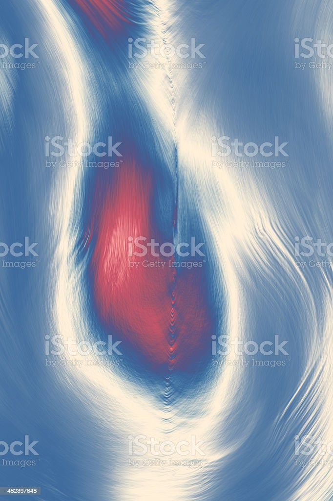 Abstract texture with red hearts on a white-blue background stock photo