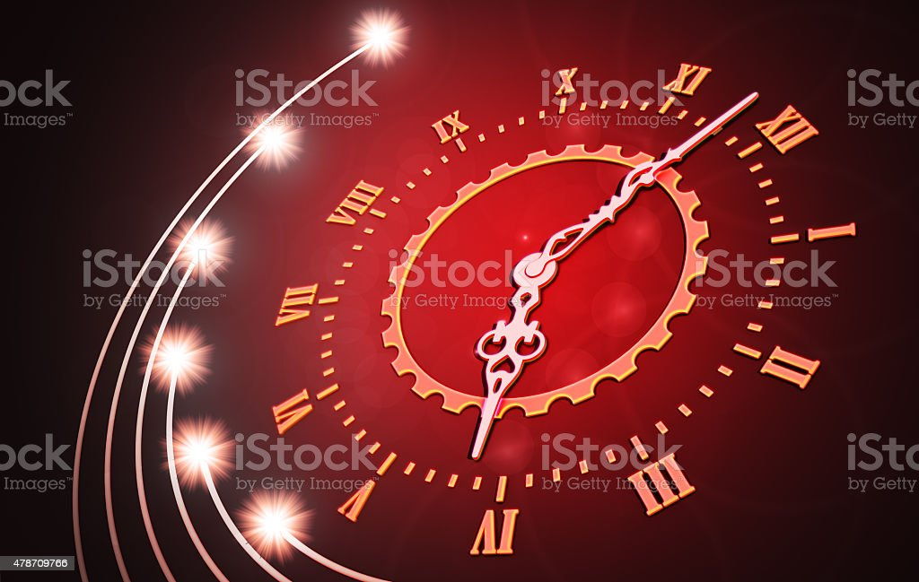 Abstract time concept stock photo