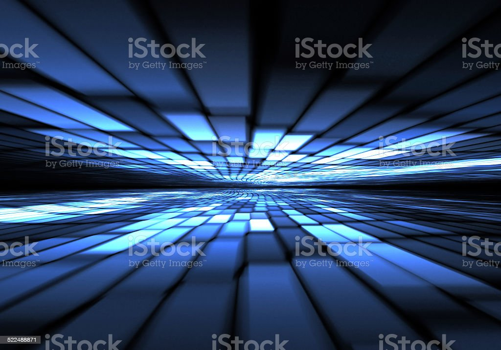 Abstract time warp, traveling in space. stock photo