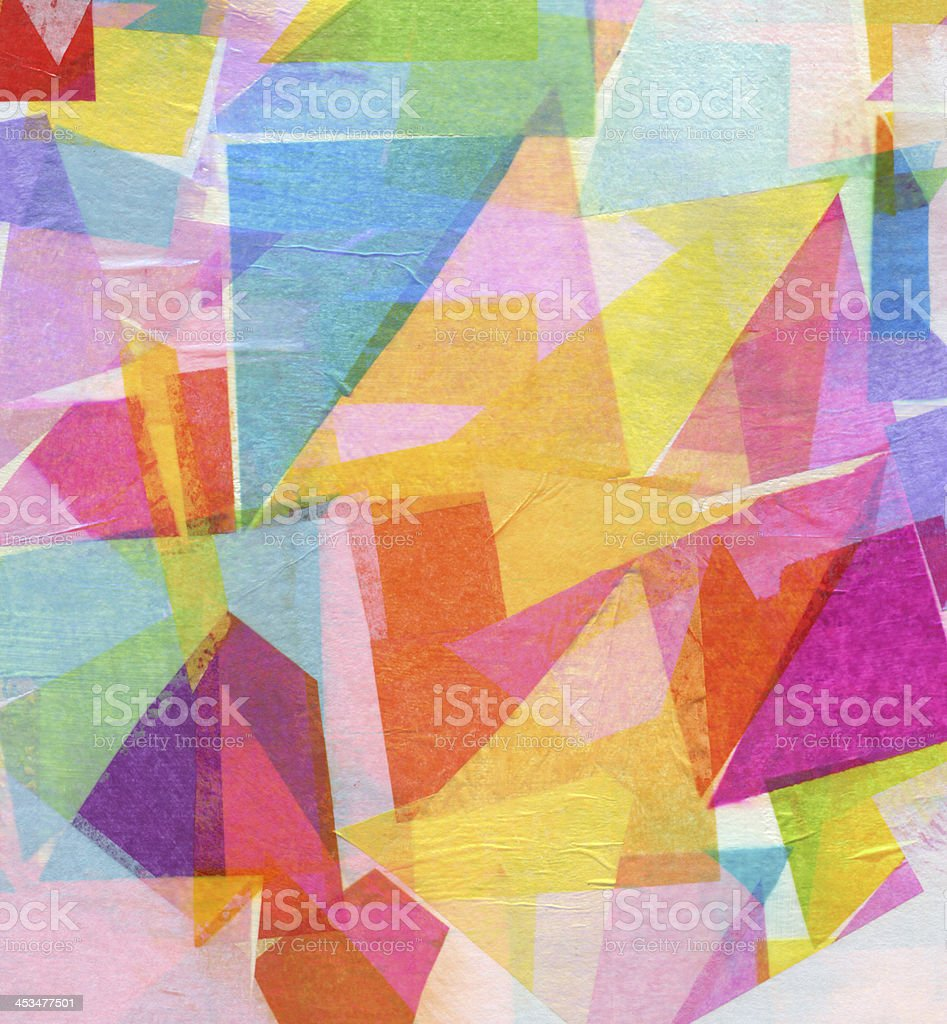 Abstract Tissue Paper Collage stock photo