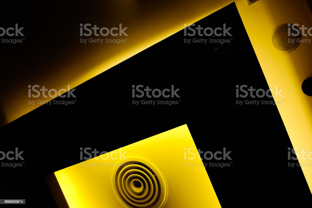 Abstract tone background of light on the ceiling stock photo