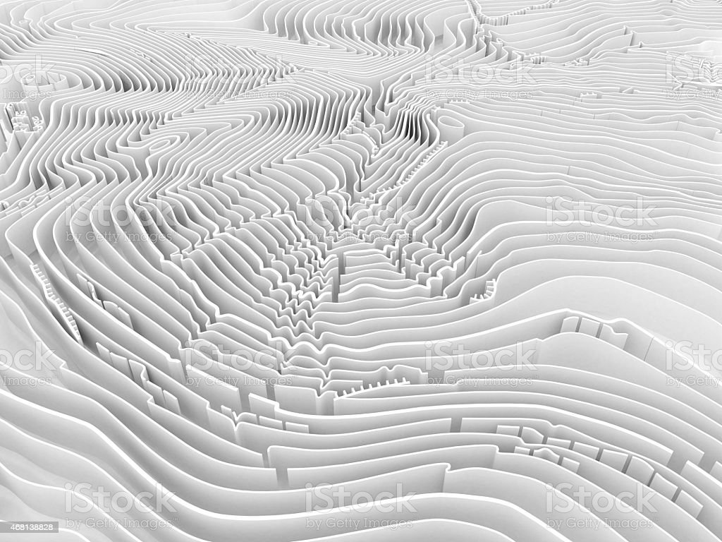 Abstract topographic map in brown colors stock photo
