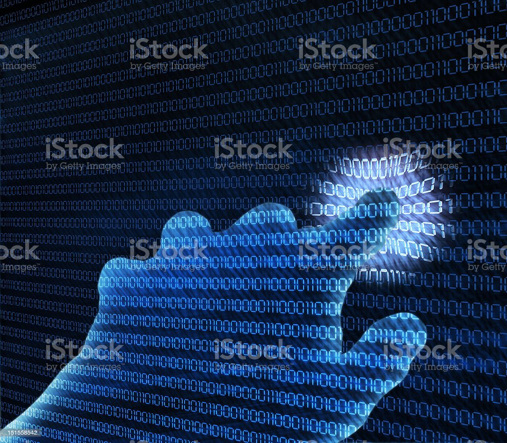 abstract transparent hand royalty-free stock photo