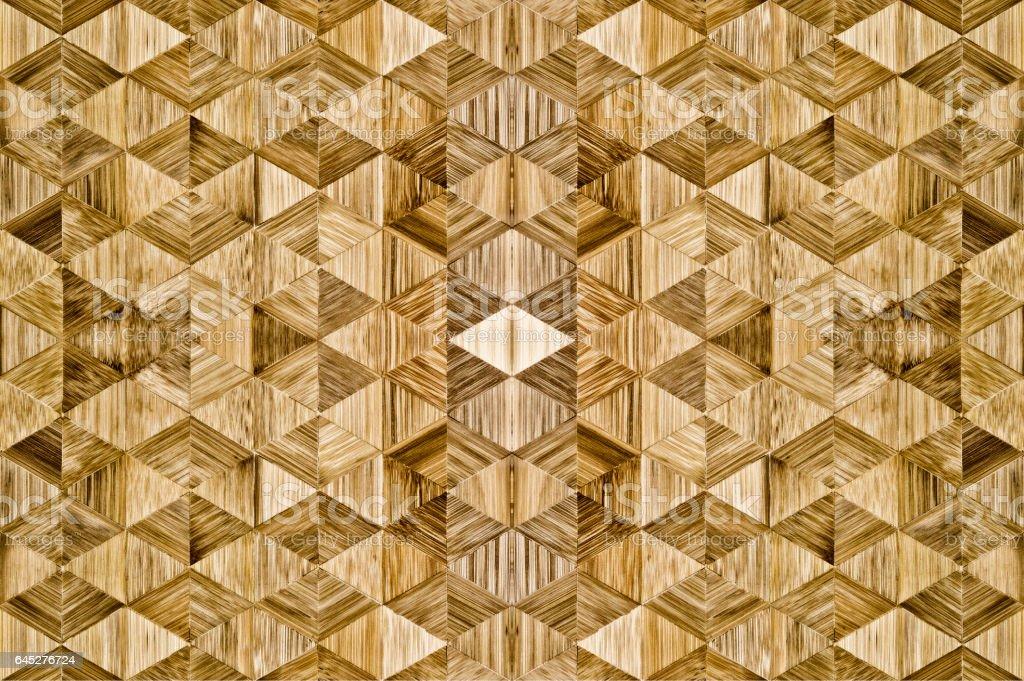 Abstract trapezoid wood pattern : Decoration floor Japan style. stock photo
