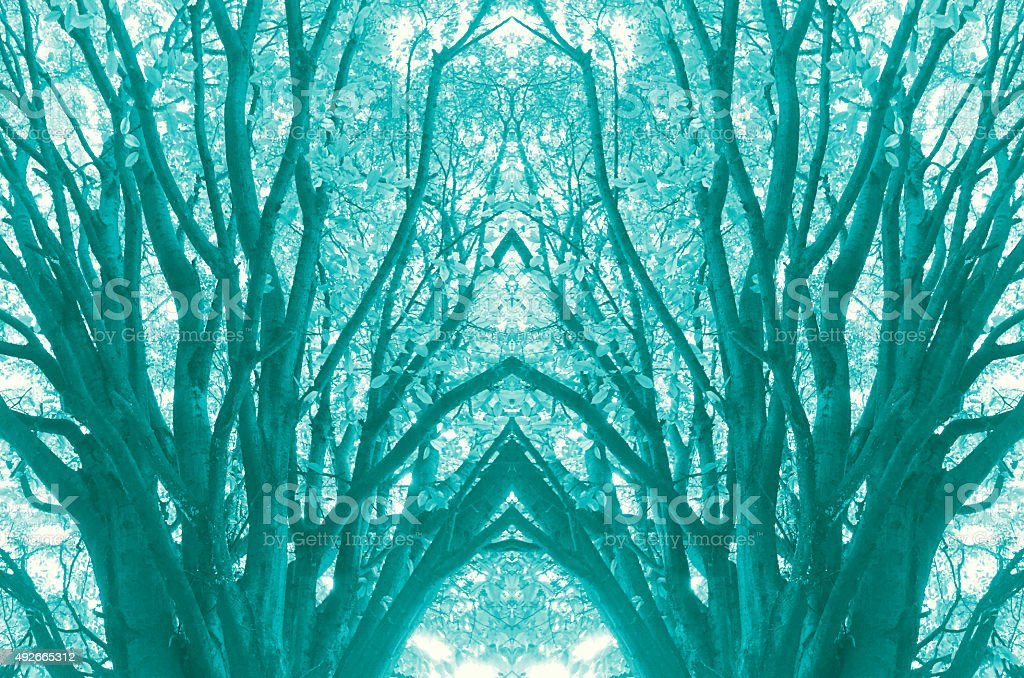 Abstract tree temple design royalty-free stock photo