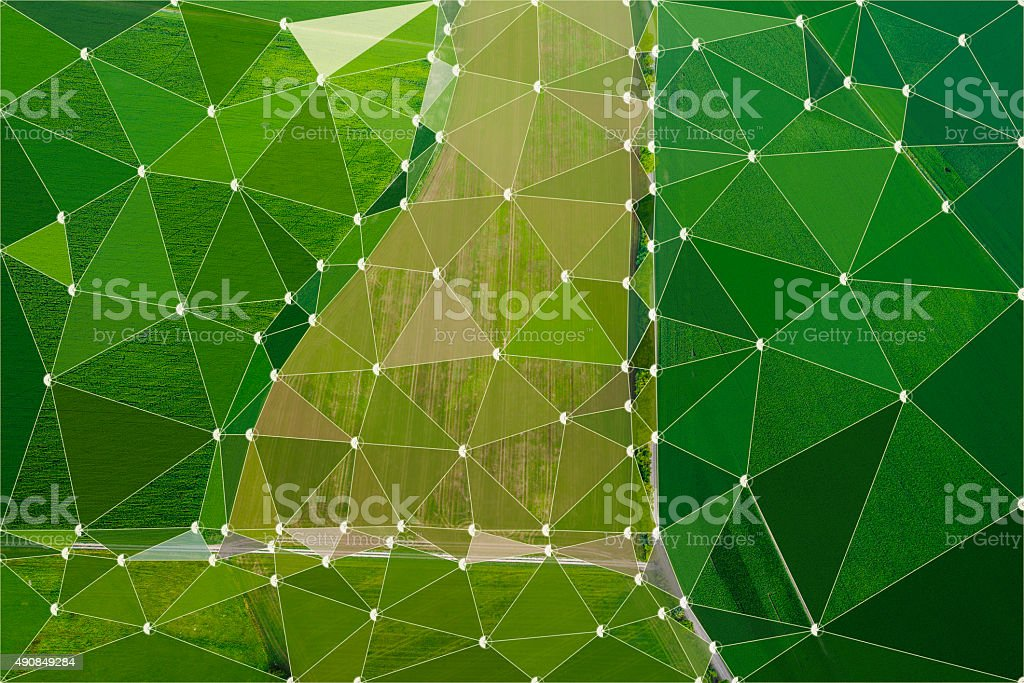 Abstract triangle background, nature complexity stock photo