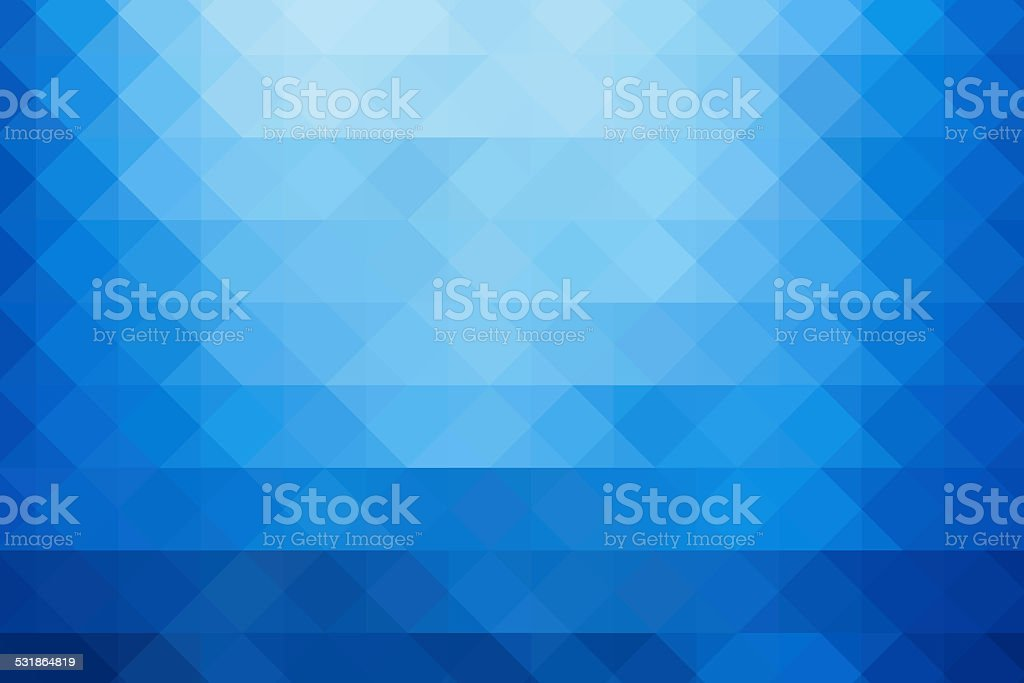 Abstract triangle blue background stock photo