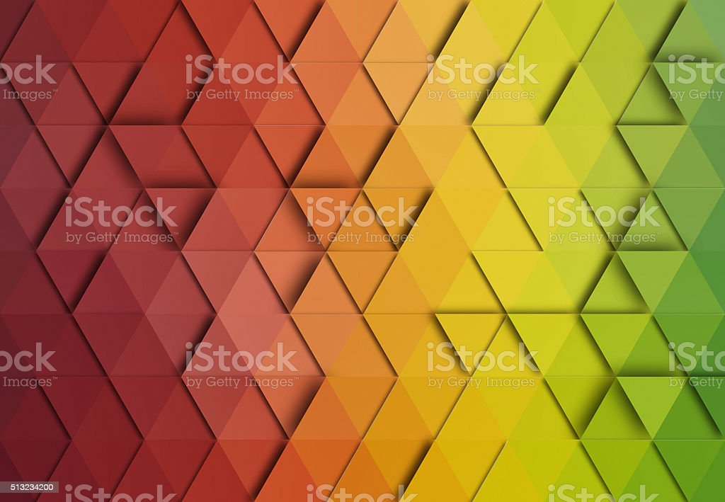 Abstract triangle colorful background stock photo