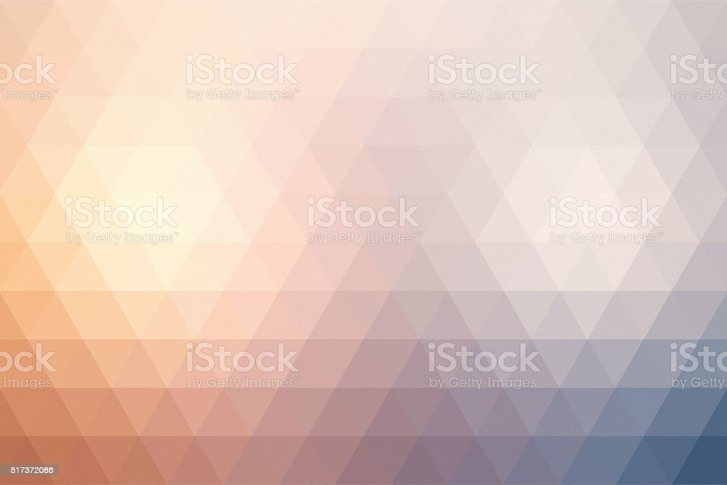 Abstract triangle retro styled colorful background stock photo