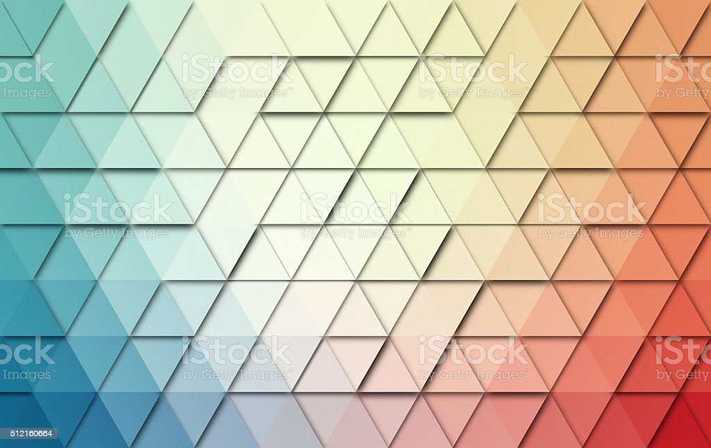 Abstract triangles colorful background stock photo