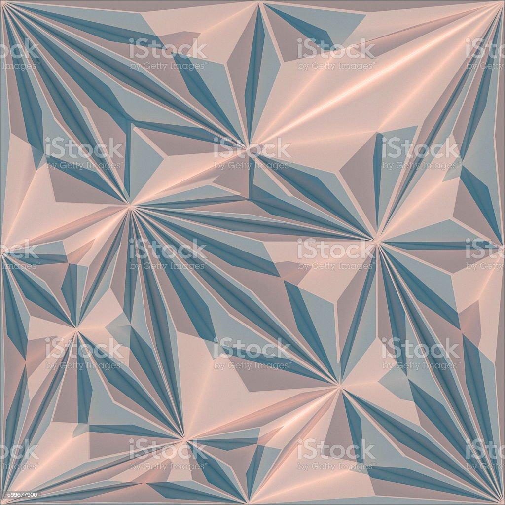 Abstract triangular crystalline background stock photo