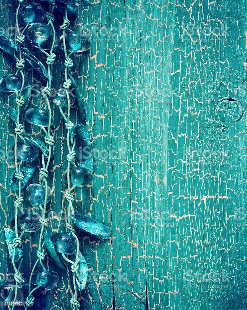 abstract turquoise old wood background stock photo
