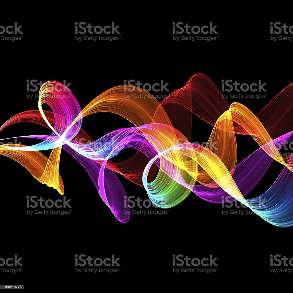 abstract twisted waves stock photo