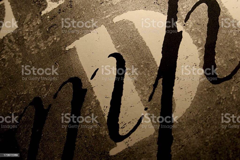 abstract type layer royalty-free stock photo