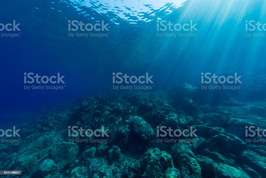 Abstract underwater background stock photo
