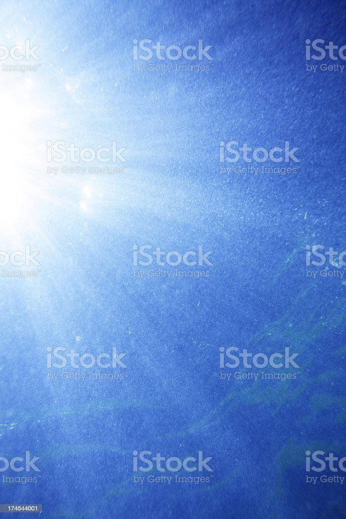 Abstract Underwater Sun Rays royalty-free stock photo