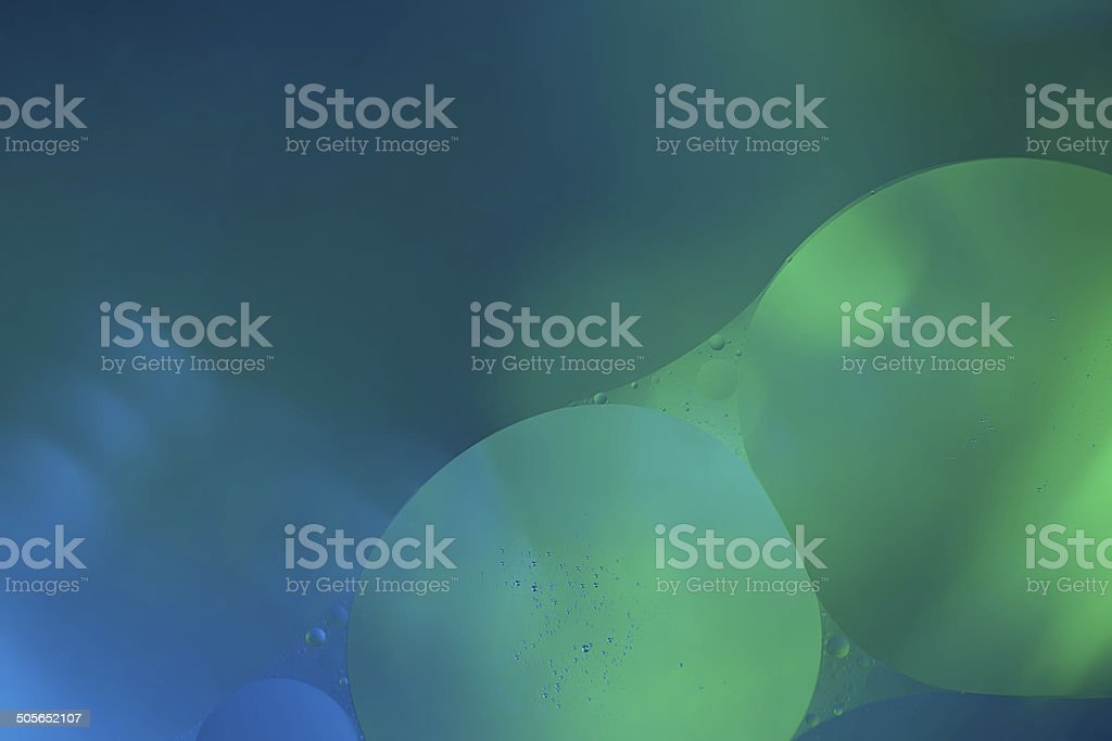 Abstract union of two bubbles of water royalty-free stock photo
